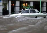 Car in Flooded Street, Buenos Aires, February 11, 2003