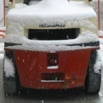 Construction Cart in Fresh Snow